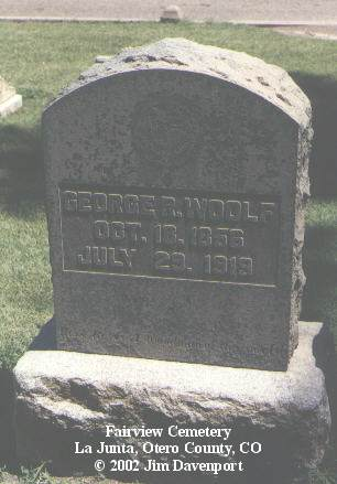 WOOLF, GEORGE R. - Otero County, Colorado | GEORGE R. WOOLF - Colorado Gravestone Photos