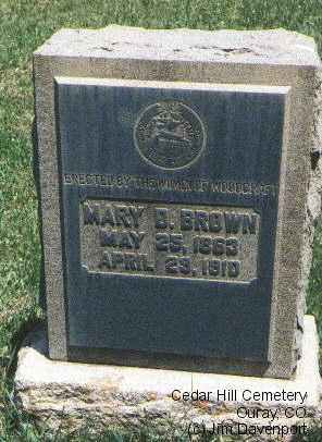 BROWN, MARY D. - Ouray County, Colorado | MARY D. BROWN - Colorado Gravestone Photos