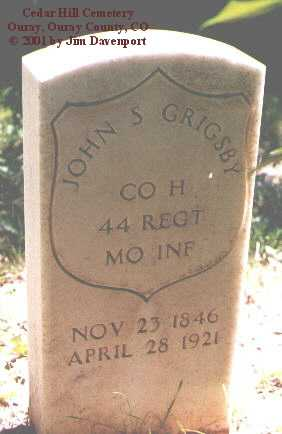 GRIGSBY, JOHN S. - Ouray County, Colorado | JOHN S. GRIGSBY - Colorado Gravestone Photos