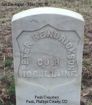 HENDRICKSON, PETER - Phillips County, Colorado | PETER HENDRICKSON - Colorado Gravestone Photos