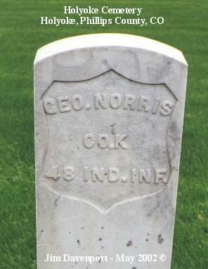 NORRIS, GEO. - Phillips County, Colorado | GEO. NORRIS - Colorado Gravestone Photos