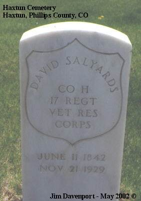 SALYARDS, DAVID - Phillips County, Colorado | DAVID SALYARDS - Colorado Gravestone Photos