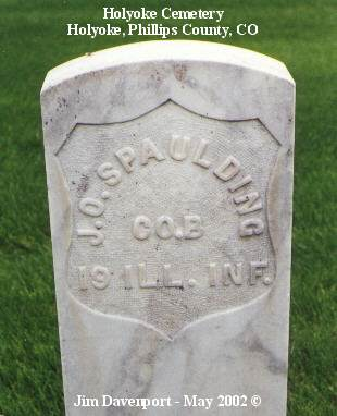 SPAULDING, J. O. - Phillips County, Colorado | J. O. SPAULDING - Colorado Gravestone Photos