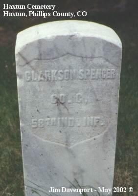 SPENCER, CLARKSON - Phillips County, Colorado | CLARKSON SPENCER - Colorado Gravestone Photos