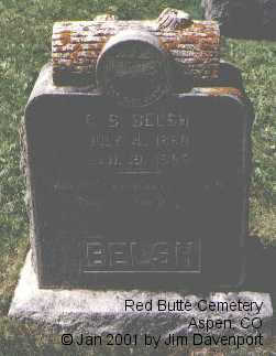 BELSH, G. S. - Pitkin County, Colorado | G. S. BELSH - Colorado Gravestone Photos