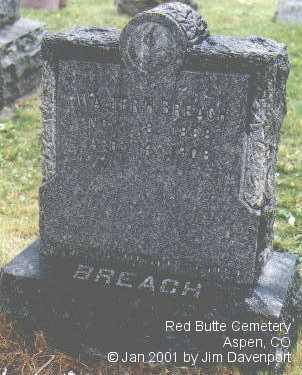BREACH, WALTER H. - Pitkin County, Colorado   WALTER H. BREACH - Colorado Gravestone Photos