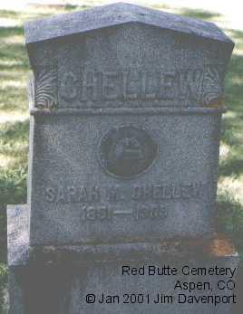 CHELLEW, SARAH M. - Pitkin County, Colorado | SARAH M. CHELLEW - Colorado Gravestone Photos