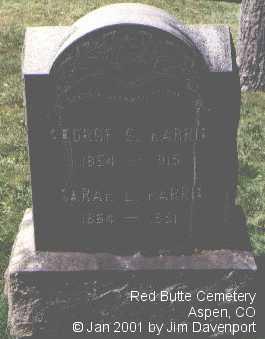 HARRIS, SARAH L. - Pitkin County, Colorado | SARAH L. HARRIS - Colorado Gravestone Photos