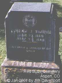 TIMBLIN, ANDREW J. - Pitkin County, Colorado | ANDREW J. TIMBLIN - Colorado Gravestone Photos