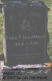 VAN NORMAN, EMMA C. - Pitkin County, Colorado | EMMA C. VAN NORMAN - Colorado Gravestone Photos