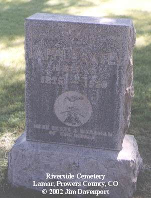 APPLEGATE, HERBERT D. - Prowers County, Colorado | HERBERT D. APPLEGATE - Colorado Gravestone Photos
