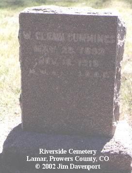 CUMMINGS, W. GLEN - Prowers County, Colorado   W. GLEN CUMMINGS - Colorado Gravestone Photos
