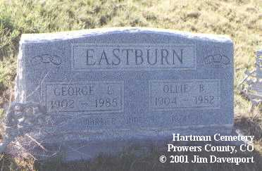 EASTBURN, OLLIE - Prowers County, Colorado | OLLIE EASTBURN - Colorado Gravestone Photos