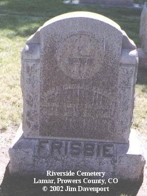FRISBIE, JAMES HORACE - Prowers County, Colorado | JAMES HORACE FRISBIE - Colorado Gravestone Photos
