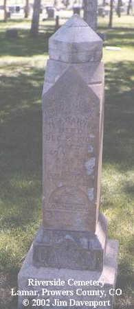 GARVIN, W. J. - Prowers County, Colorado | W. J. GARVIN - Colorado Gravestone Photos