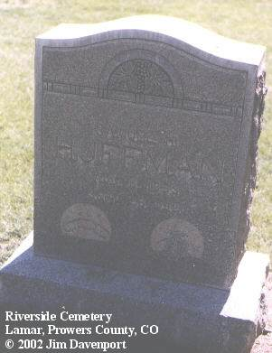 HUFFMAN, SAMUEL H. - Prowers County, Colorado | SAMUEL H. HUFFMAN - Colorado Gravestone Photos