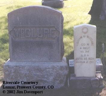 MCCLURE, WILLIAM C. - Prowers County, Colorado | WILLIAM C. MCCLURE - Colorado Gravestone Photos