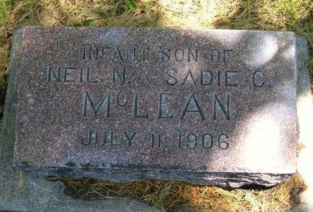 MCLEAN, INFANT SON - Prowers County, Colorado | INFANT SON MCLEAN - Colorado Gravestone Photos