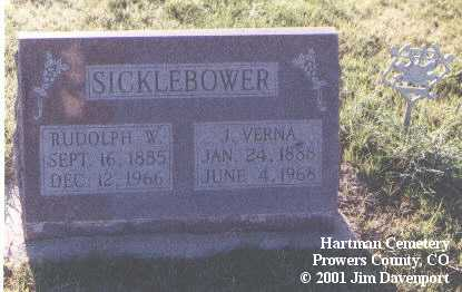 SICKLEBOWER, RUDOLPH W. - Prowers County, Colorado | RUDOLPH W. SICKLEBOWER - Colorado Gravestone Photos
