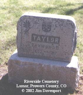 TAYLOR, RAYMOND B. - Prowers County, Colorado | RAYMOND B. TAYLOR - Colorado Gravestone Photos