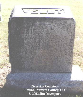 VELUT, JESSIE M. - Prowers County, Colorado | JESSIE M. VELUT - Colorado Gravestone Photos