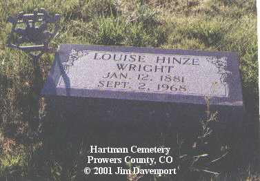 WRIGHT, LOUISE - Prowers County, Colorado | LOUISE WRIGHT - Colorado Gravestone Photos