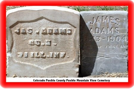ADAMS, JAMES M - Pueblo County, Colorado | JAMES M ADAMS - Colorado Gravestone Photos
