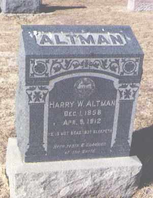 ALTMAN, HARRY W. - Pueblo County, Colorado | HARRY W. ALTMAN - Colorado Gravestone Photos
