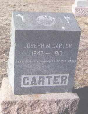 CARTER, JOSEPH M. - Pueblo County, Colorado | JOSEPH M. CARTER - Colorado Gravestone Photos
