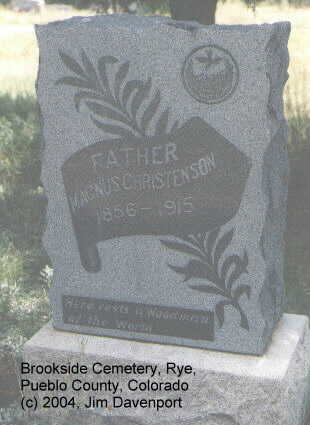 CHRISTENSEN, MAGNUS - Pueblo County, Colorado | MAGNUS CHRISTENSEN - Colorado Gravestone Photos