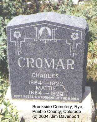 CROMAR, CHARLES - Pueblo County, Colorado | CHARLES CROMAR - Colorado Gravestone Photos
