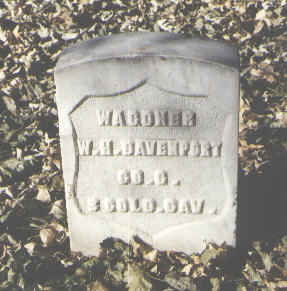 DAVENPORT, W. H. - Pueblo County, Colorado | W. H. DAVENPORT - Colorado Gravestone Photos