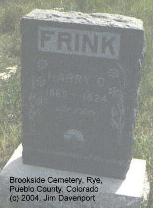 FRINK, HARRY C. - Pueblo County, Colorado | HARRY C. FRINK - Colorado Gravestone Photos