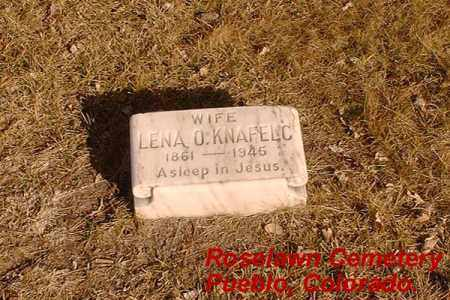 KNAFELC, LENA O. - Pueblo County, Colorado | LENA O. KNAFELC - Colorado Gravestone Photos