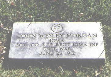 MORGAN, JOHN WESLEY - Pueblo County, Colorado | JOHN WESLEY MORGAN - Colorado Gravestone Photos