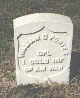 PORTER, WILLIAM C. - Pueblo County, Colorado | WILLIAM C. PORTER - Colorado Gravestone Photos