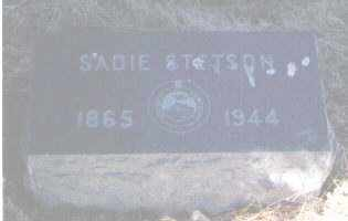 STETSON, SADIE - Pueblo County, Colorado | SADIE STETSON - Colorado Gravestone Photos