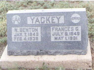 YACKEY, FRANCES G - Pueblo County, Colorado | FRANCES G YACKEY - Colorado Gravestone Photos