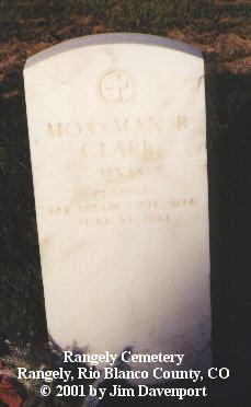 CLARK, MOSSMAN R. - Rio Blanco County, Colorado | MOSSMAN R. CLARK - Colorado Gravestone Photos
