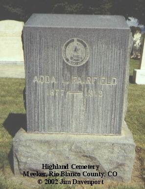 FAIRFIELD, ADDA L. - Rio Blanco County, Colorado | ADDA L. FAIRFIELD - Colorado Gravestone Photos