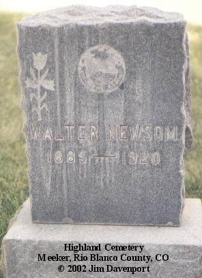 NEWSOM, WALTER - Rio Blanco County, Colorado | WALTER NEWSOM - Colorado Gravestone Photos