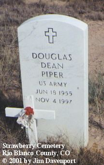 PIPER, DOUGLAS DEAN - Rio Blanco County, Colorado | DOUGLAS DEAN PIPER - Colorado Gravestone Photos