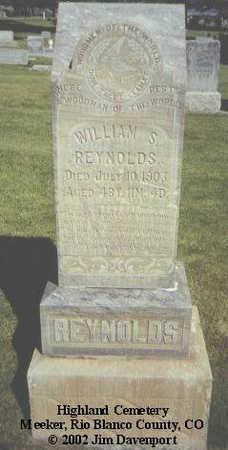 REYNOLDS, WILLIAM S. - Rio Blanco County, Colorado | WILLIAM S. REYNOLDS - Colorado Gravestone Photos