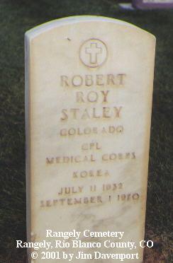 STALLY, ROBERT ROY - Rio Blanco County, Colorado | ROBERT ROY STALLY - Colorado Gravestone Photos