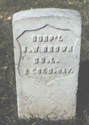 BROWN, J. W. - Rio Grande County, Colorado | J. W. BROWN - Colorado Gravestone Photos