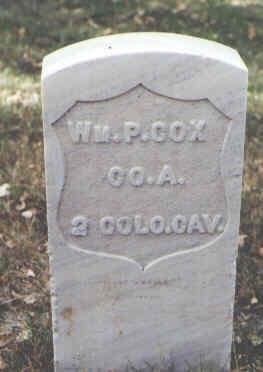 COX, WM. P. - Rio Grande County, Colorado | WM. P. COX - Colorado Gravestone Photos