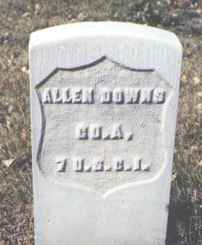DOWNS, ALLEN - Rio Grande County, Colorado   ALLEN DOWNS - Colorado Gravestone Photos