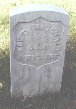 MCDONALD, EDW'D - Rio Grande County, Colorado   EDW'D MCDONALD - Colorado Gravestone Photos