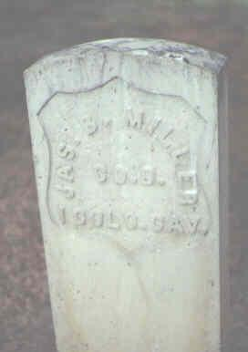 MILLER, JAS. B. - Rio Grande County, Colorado | JAS. B. MILLER - Colorado Gravestone Photos