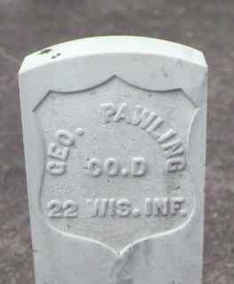 PAWLING, GEO. - Rio Grande County, Colorado | GEO. PAWLING - Colorado Gravestone Photos